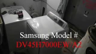 Samsung Dryer  Repair  M# DV45H7000EW/A2