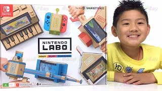 Isaac Checking out Nintendo LABO Toy-Con Variety Kit