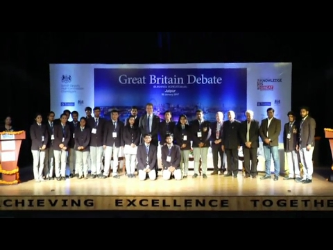 The Great Britain Debate Competition at Poornima University, Jaipur, India