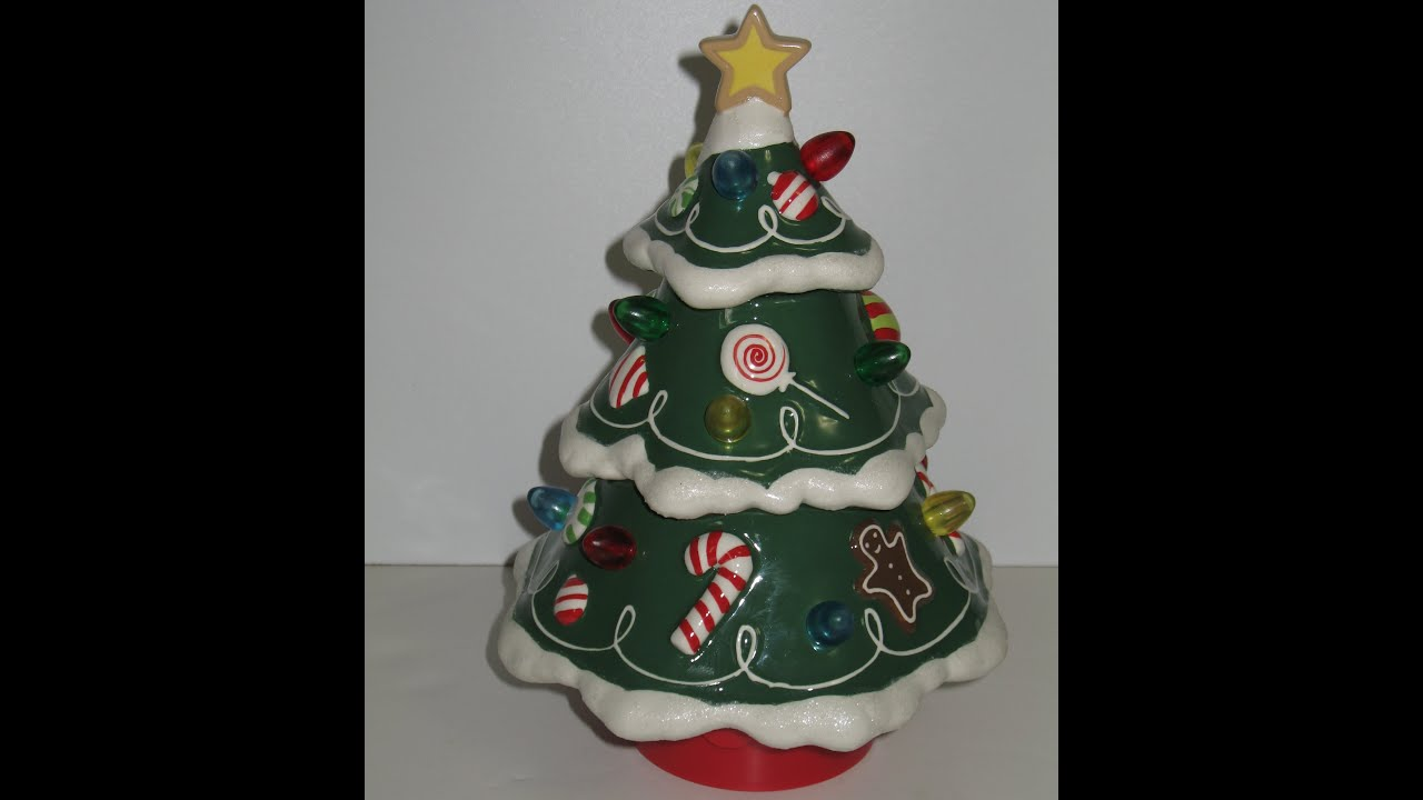 Hallmark Musical Ceramic Christmas Tree Rotates Lights Up