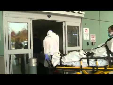 Ebola drill at Backus Hospital
