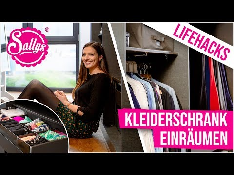 Lifehacks  Kleiderschrank einrumen / Roomtour Part 5 / Sallys Welt