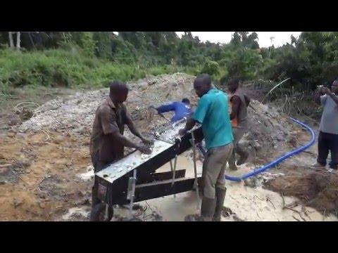 CC690 Power Sluice in Ghana