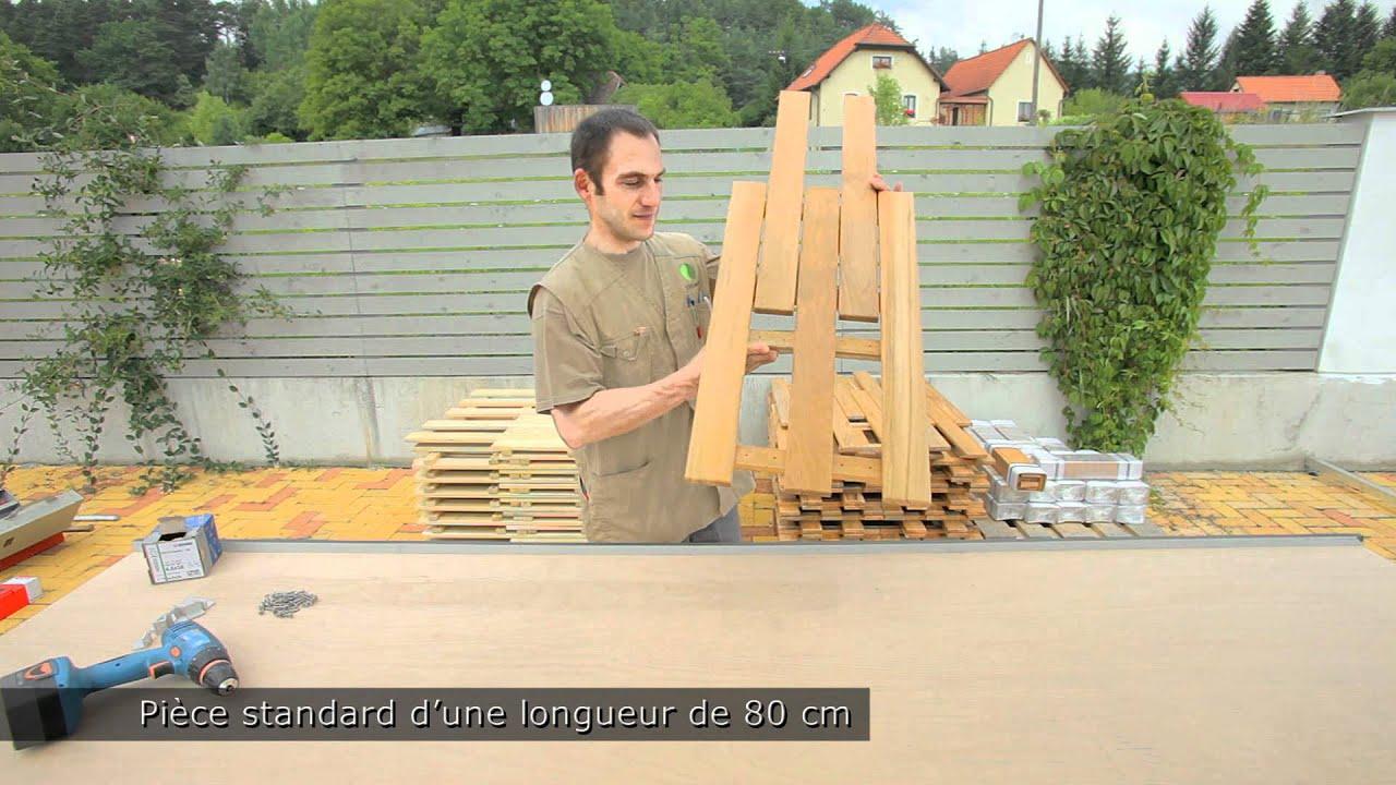 Sol de terrasse, Teck et Robinier ( Faux acacia) - YouTube