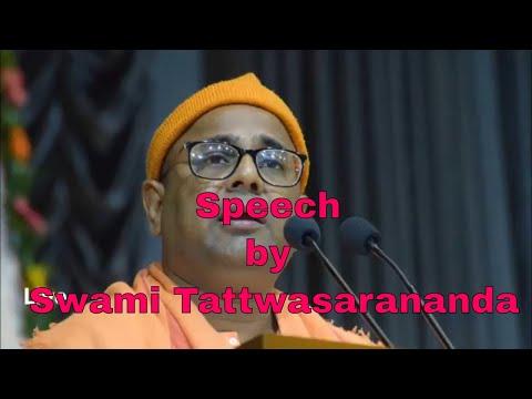 Speech by Swami Tattwasarananda