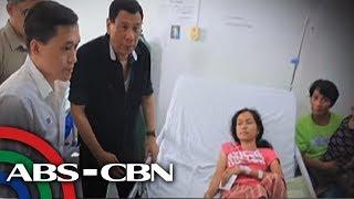 Duterte, dumalaw sa mga biktima ng trahedya sa Mindoro