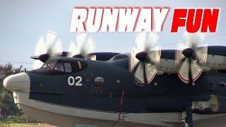 US-2救難飛行艇の帰投 下総航空基地開設記念行事