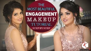 Beautiful Engagement Makeup Tutorial | Step by Step Makeup Tutorial Video | Krushhh by Konica
