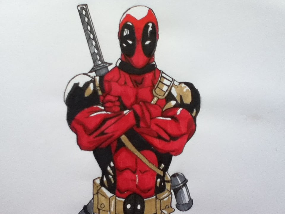 Drawing Deadpool, Marvel comics - YouTubeDeadpool Sketch