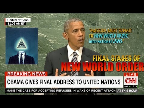 LEAVE NOW!! Obama Says America Must SUBMIT to the NWO Laws at UN - FINAL Speech