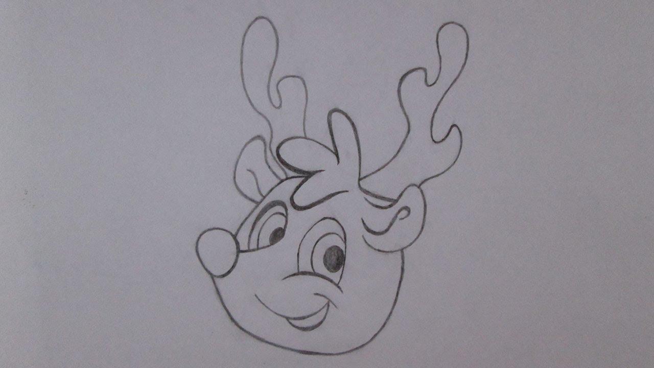 Cómo dibujar a Rodolfo el reno - YouTube