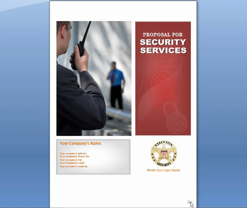 Security Services Proposal For Security Business