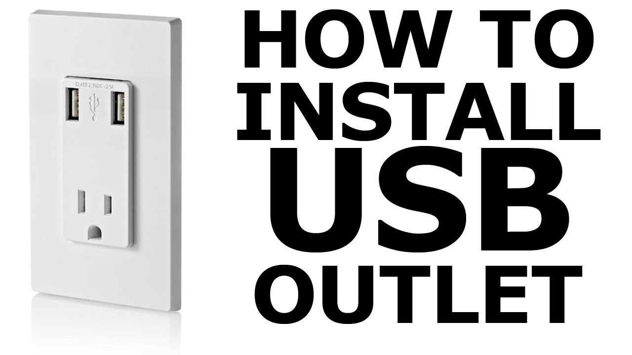 how to install a usb wall outlet diy youtube rh youtube com Single Outlet Wiring usb wall outlet diy
