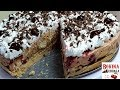 TORTA SA VIŠNJAMA ZA 15 MINUTA BEZ PEČENJA CAKE WITH CHERRIS  NO BAKING