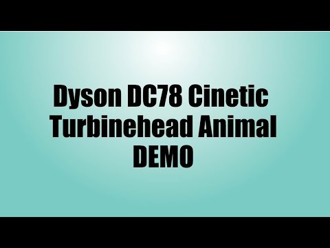 Dyson Cinetic DC78 Vacuum Demo NEW DYSON ANIMAL REVIEW
