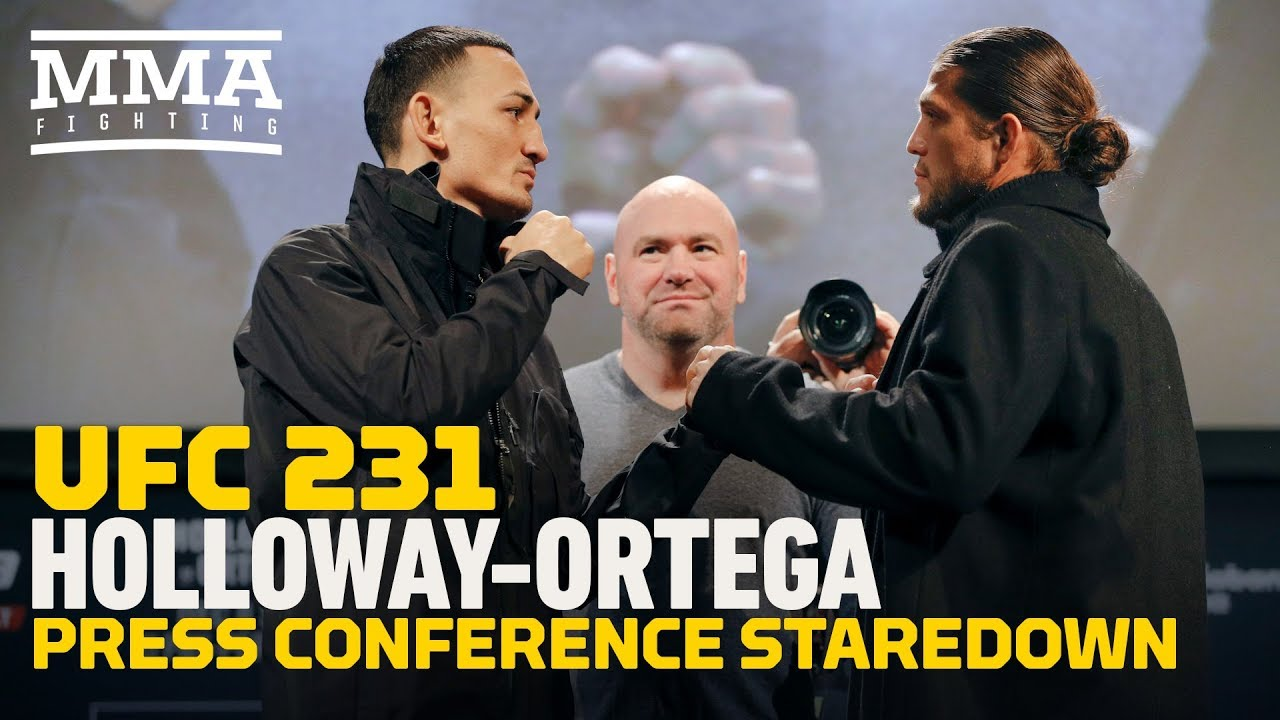 UFC 231: Max Holloway vs. Brian Ortega Press Conference Staredown - MMA Fighting