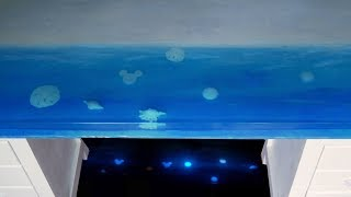 Making an Epoxy Resin Ocean Table that GLOWS in the DARK