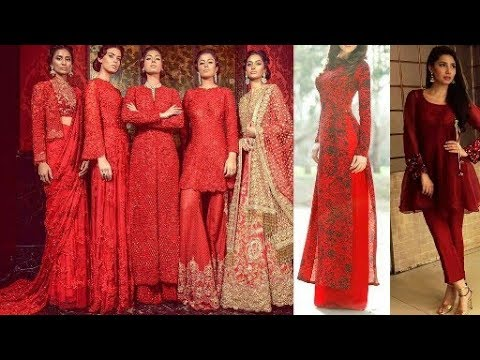 Red Hot Dresses Collection(Kurti,suit,palazoo)|All Red Dress Design|Red Kurti|Beautiful You