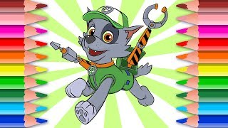 How to Draw PAW Patrol Rocky with Gear | Magical Pen Lesson FOR KIDS