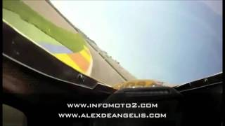 Un giro con Alex De Angelis a Valencia - MotoBi TSR Moto2 - SC-Project GP M2 exhaust sound.wmv
