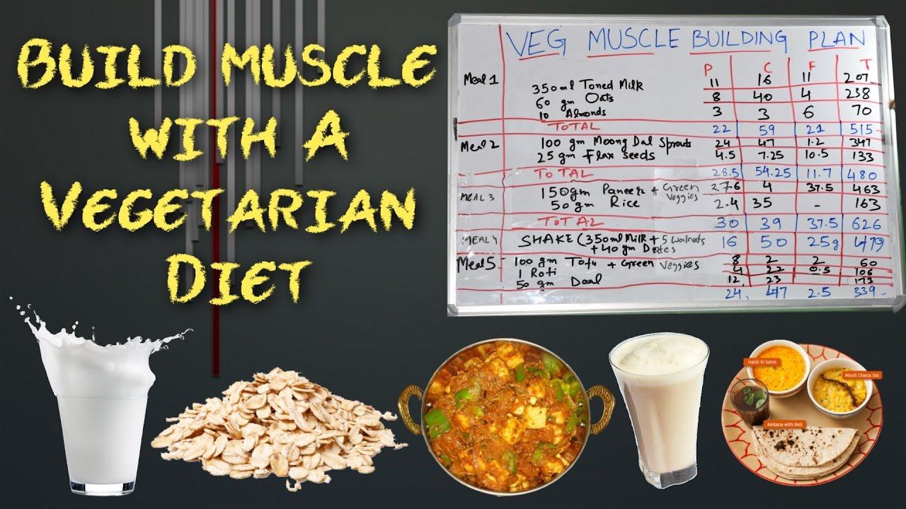शुद्ध शाकाहारी पुरे दिन का खाना   Vegetarian Body Building ...