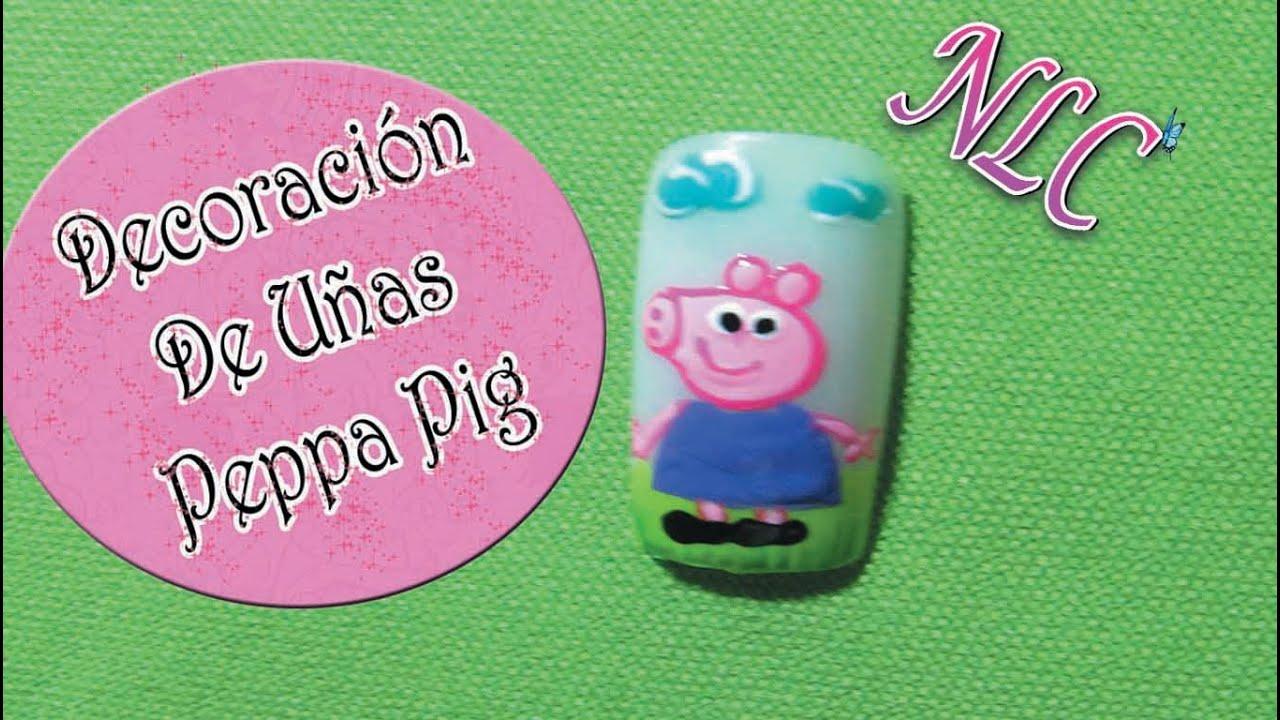 Decoración de uñas Peppa pig - Como pintar a peppa pig - Peppa la ...