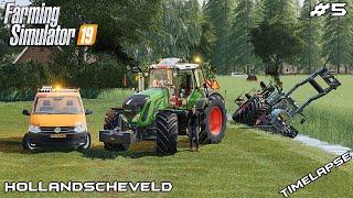 MrsTheCamPeR got stuck in the ditch   Animals on Hollandscheveld   Farming Simulator 19