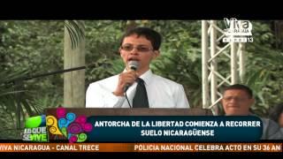 Antorcha de La Libertad comienza a recorrer suelo nicaragüense