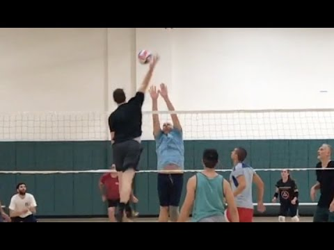 BIG MIDDLES - Open Gym Volleyball Highlights (2/2/17) part 2/2