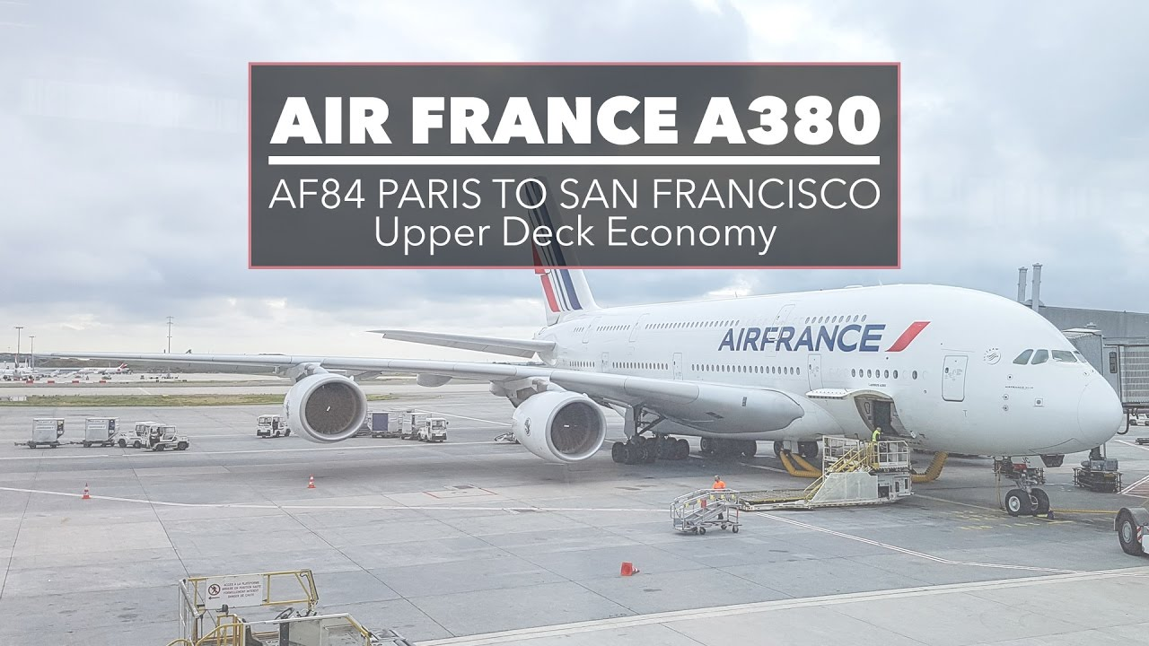 Air france airbus a380 upper deck to san francisco youtube for A380 air france interieur