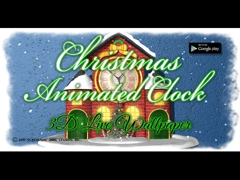 Christmas Animated Clock 3D Live Wallpaper for Android Devices