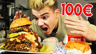 100€ BURGER vs McDonalds vs BurgerKing!