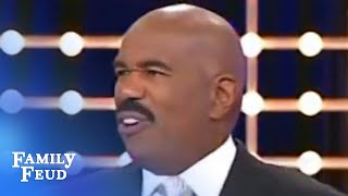 Steve Harvey is the answer! | Family Feud