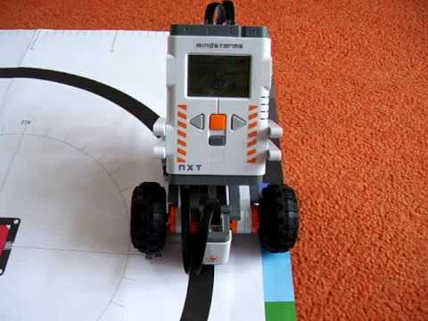 Lego Mindstorms NXT Simple Line Follower - YouTube