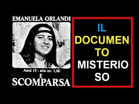 Emanuela Orlandi - Il documento misterioso.(di Emiliano Fittipaldi)