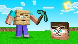 MINECRAFT But The BLOCKS MINE Us!