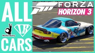 Forza Horizon 3 All Rocket Bunny & Liberty Walk Cars
