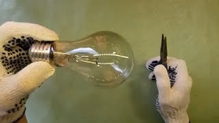How to disassemble a light bulb | DIY