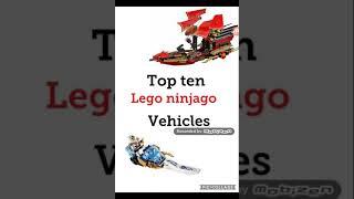 top 10 Lego Ninjago vehicles