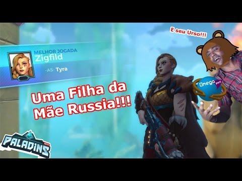 "Uma Filha da Mãe Russia ""Tyra"" Gameplay [Paladins] Omega Play"
