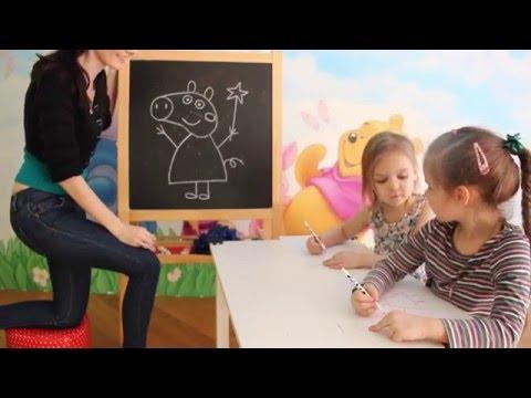 Как нарисовать Свинку Пеппу самому? Научиться легко, Тая и Катя рисуют.