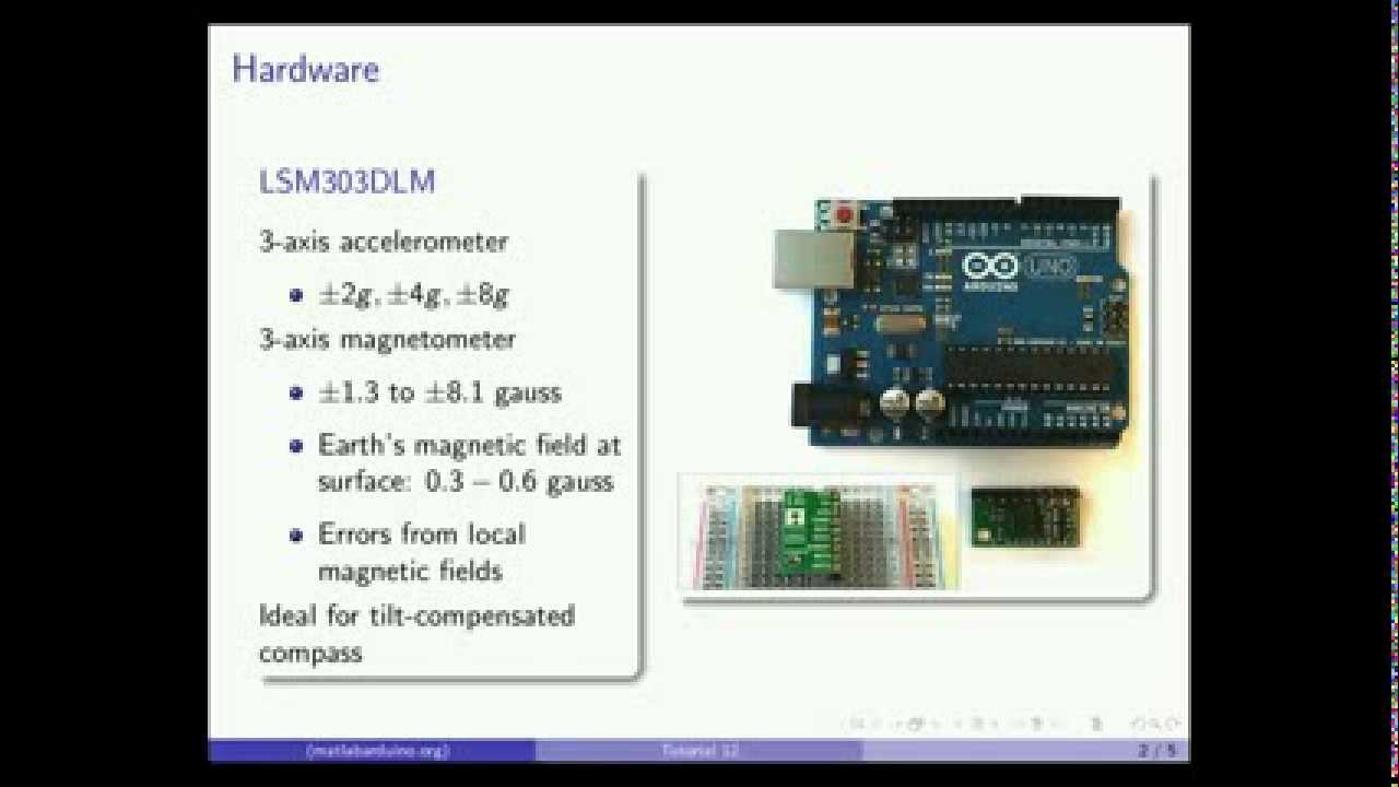 Matlab arduino tutorial lsm dlm axis magnetometer