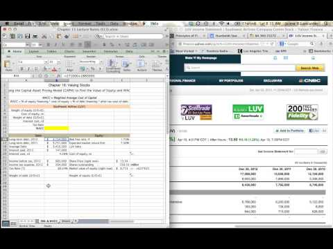 Chapter 16 - Using the CAPM to Find the Cost of Equity and the WACC (part 2)
