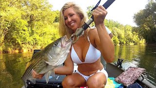 Repeat youtube video Striped Bass Fishing With a Girl on Lake Lanier / Upper Hooch