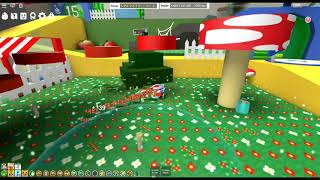 ROBLOX Bee Swarm Simulator using OP field booster with gummy mask!