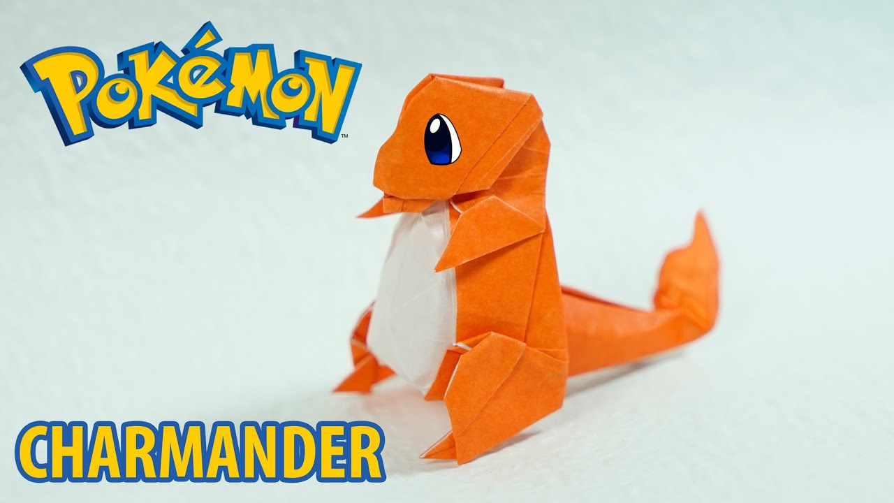paper pokemon origami charmander tutorial henry ph��m