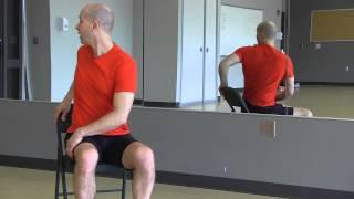 "#12 ""yoga Minute"" Seated Chair Twist A"