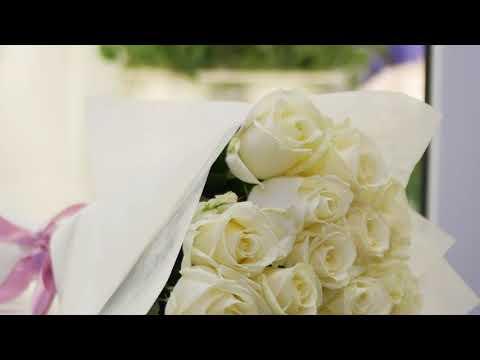 Купить 15 белых роз в Минске - Доставка цветов Dolinaroz.by