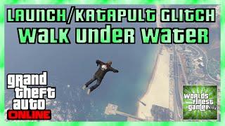 GTA 5 Online NEW LAUNCH/KATAPULT GLITCH | IN DER LUFT SCHWIMMEN & WALK UNDER WATER HD