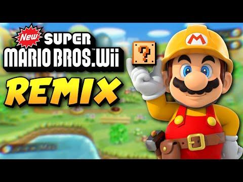 New Super Mario Bros. Wii REMADE in Super Mario Maker